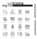 modern thin line icons set of... | Shutterstock .eps vector #464923334