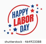 labor day  holiday in united... | Shutterstock .eps vector #464923388