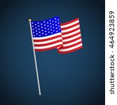 united states of america flag...   Shutterstock .eps vector #464923859