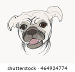 card template with portrait of...   Shutterstock .eps vector #464924774