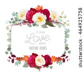 Square Floral Vector Frame Wit...