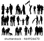 isolated. silhouette family  a ... | Shutterstock .eps vector #464926670