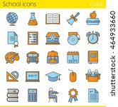 school color icons set. class... | Shutterstock .eps vector #464933660