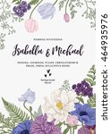 vintage wedding invitation.... | Shutterstock .eps vector #464935976