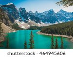 moraine lake   beautiful... | Shutterstock . vector #464945606