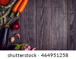 fresh vegetables for cooking on ... | Shutterstock . vector #464951258