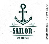 nautical logo. made in vintage... | Shutterstock .eps vector #464956370