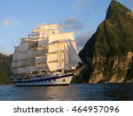 Clipper Ship Sailing With Full...