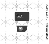 set of flat sim card and case...