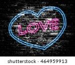 love sign on old black vintage...   Shutterstock . vector #464959913