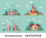 icons  school  church ... | Shutterstock .eps vector #464960948