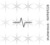 heart monitor pulse line.