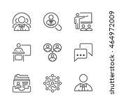 business teamwork icons set ...   Shutterstock .eps vector #464972009