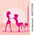beautiful woman in... | Shutterstock . vector #464973338