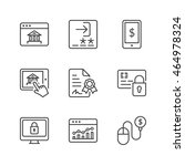 e banking icons set  thin line  ...   Shutterstock .eps vector #464978324