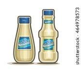 vector logo mayonnaise bottles  ... | Shutterstock .eps vector #464978573