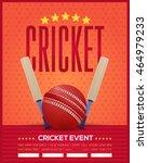 cricket event poster template... | Shutterstock .eps vector #464979233