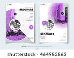 purple brochure design.... | Shutterstock .eps vector #464982863