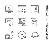 shopping online icons set  thin ... | Shutterstock .eps vector #464984009