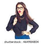 beauty sexy fashion model girl... | Shutterstock . vector #464984804