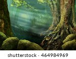 Forest Landscape With Old Trees ...