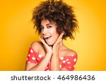 beauty portrait of young... | Shutterstock . vector #464986436