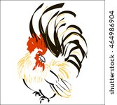 image of the cock. pattern in... | Shutterstock .eps vector #464986904