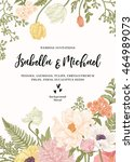vintage wedding invitation.... | Shutterstock .eps vector #464989073