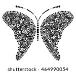 vector decorative hand drawn...   Shutterstock .eps vector #464990054