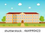 school building  cityscape | Shutterstock .eps vector #464990423