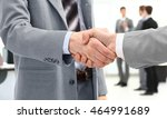 business partners shaking hands | Shutterstock . vector #464991689