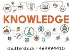 academic knowledge improvement... | Shutterstock . vector #464994410