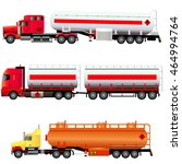 big fuel gas tanker and two lng ... | Shutterstock .eps vector #464994764