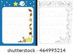 preschool worksheet for... | Shutterstock .eps vector #464995214