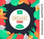fresh vegetable banner from... | Shutterstock .eps vector #464995670