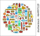 vector line art symbols. circle ...   Shutterstock .eps vector #464997119