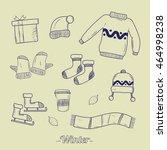 winter icon vector illustration | Shutterstock .eps vector #464998238
