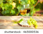 Green Grapes And Two Glasses O...