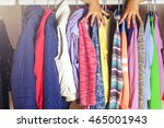 set of clothes for kids on... | Shutterstock . vector #465001943