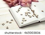the word love a lot of hearts ... | Shutterstock . vector #465003836