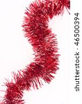 Red Tinsel Isolated On A White...