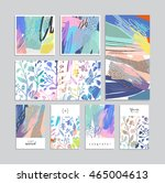 set of artistic creative... | Shutterstock .eps vector #465004613