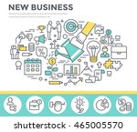 new business concept... | Shutterstock .eps vector #465005570