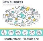 new business concept... | Shutterstock .eps vector #465005570
