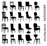 set of chair silhouettes | Shutterstock .eps vector #465006089