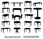 set of table silhouettes   Shutterstock .eps vector #465006098