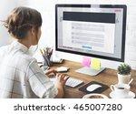 resgistration application... | Shutterstock . vector #465007280