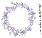 Round Frame With Flowers Bells...