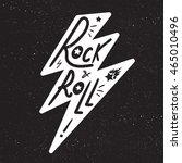 rock and roll lettering for t... | Shutterstock .eps vector #465010496