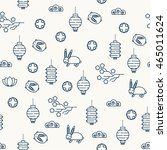 seamless pattern for the mid... | Shutterstock .eps vector #465011624